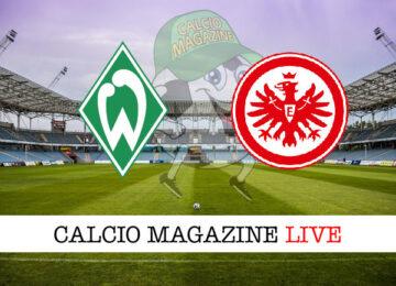 Werder Brema Eintracht Francoforte cronaca diretta live risultato in tempo reale