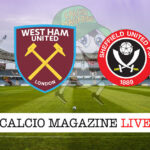 West Ham Sheffield United cronaca diretta live risultato in tempo reale