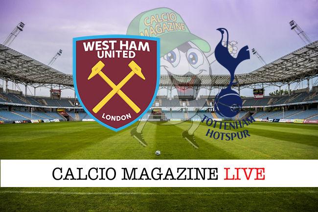 West Ham Tottenham cronaca diretta live risultato in tempo reale