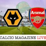 Wolverhampton Arsenal cronaca diretta live risultato in tempo reale