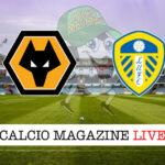 Wolverhampton Leeds cronaca diretta live risultato in tempo reale
