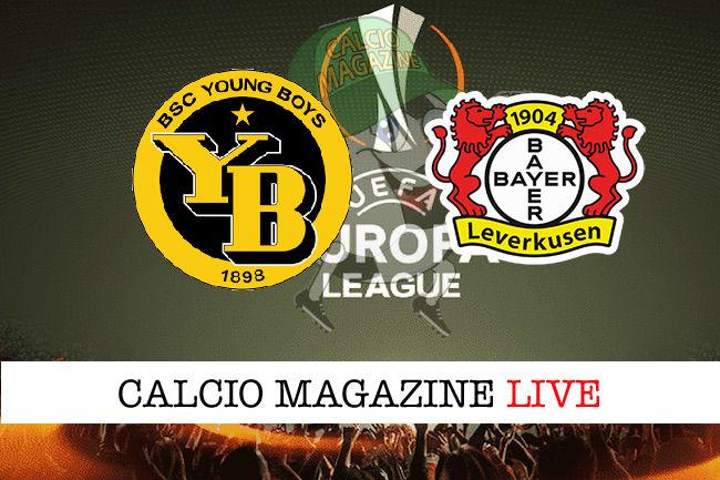 Young Boys Bayer Leverkusen cronaca diretta live risultato in tempo reale