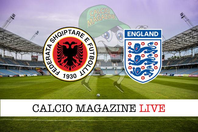 Albania - Inghilterra cronaca diretta live risultato in tempo reale