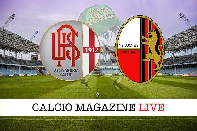 Alessandria - Lucchese cronaca diretta live risultato in tempo reale