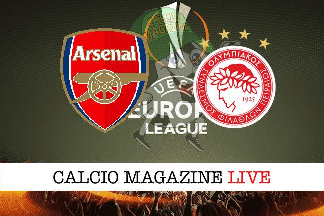 Arsenal - Olimpiakos cronaca diretta live risultato in tempo reale