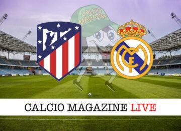 Atletico Madrid Real Madrid cronaca diretta risultato in tempo reale