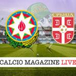 Azerbaigian - Serbia cronaca diretta live risultato in tempo reale