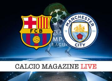 Barcellona - Manchester City cronaca diretta live risultato in tempo reale