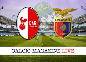 Bari - Casertana cronaca diretta live risultato in tempo reale