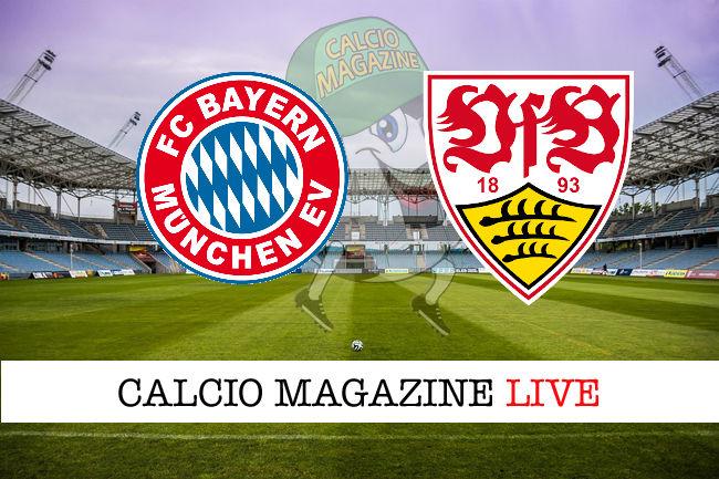 Bayern Monaco - Stoccarda cronaca diretta live risultato in tempo reale