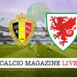 Belgio Galles cronaca diretta live risultato in tempo reale