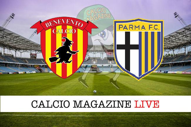 Benevento - Parma cronaca diretta live risultato in tempo reale