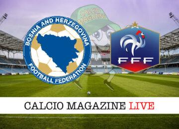 Bosnia - Francia cronaca diretta live risultato in tempo reale