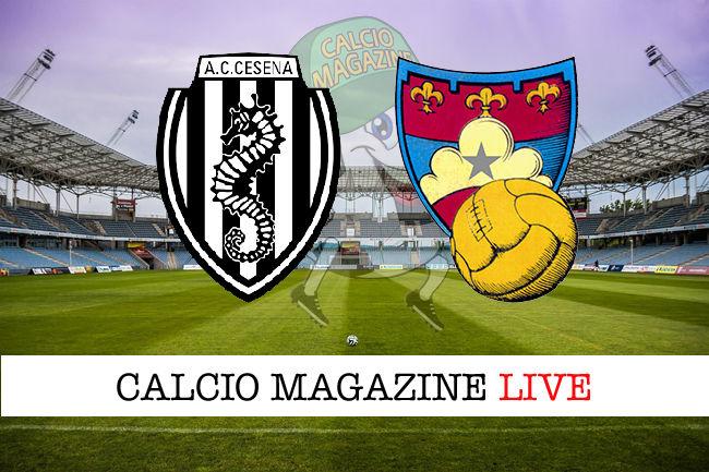 Cesena - Gubbio cronaca diretta live risultato in tempo reale