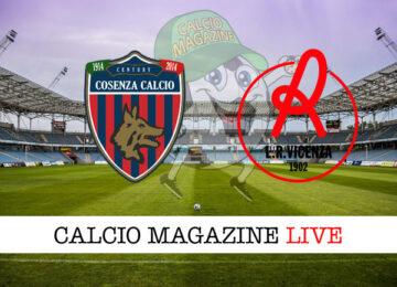 Cosenza Vicenza cronaca diretta live risultato in tempo reale