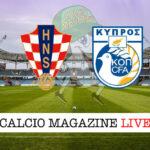 Croazia Cipro cronaca diretta live risultato in tempo reale