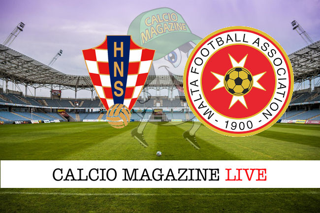 Croazia Malta cronaca diretta live risultato in tempo reale