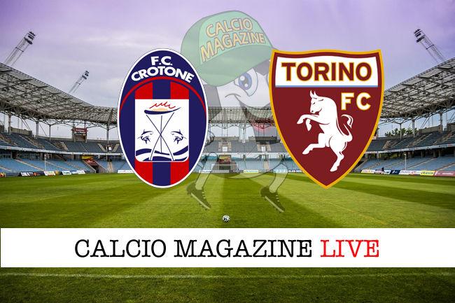 Crotone Torino cronaca diretta risultato in tempo reale