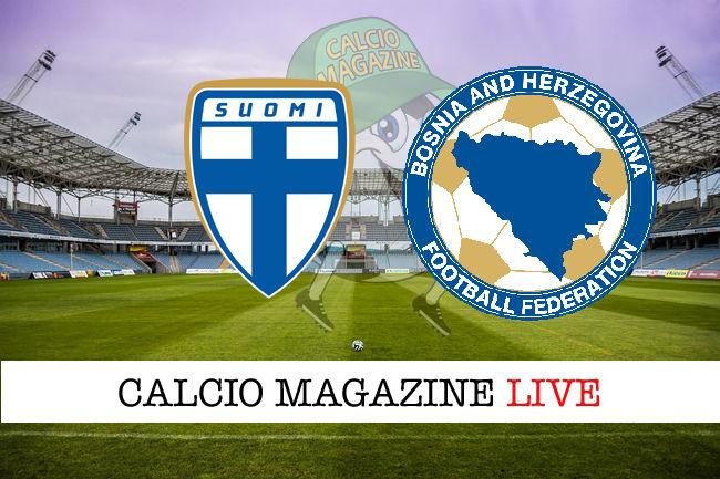 Finlandia - Bosnia-Erzegovina cronaca diretta live risultato in tempo reale