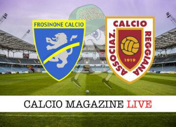 Frosinone - Reggiana cronaca diretta live risultato in tempo reale