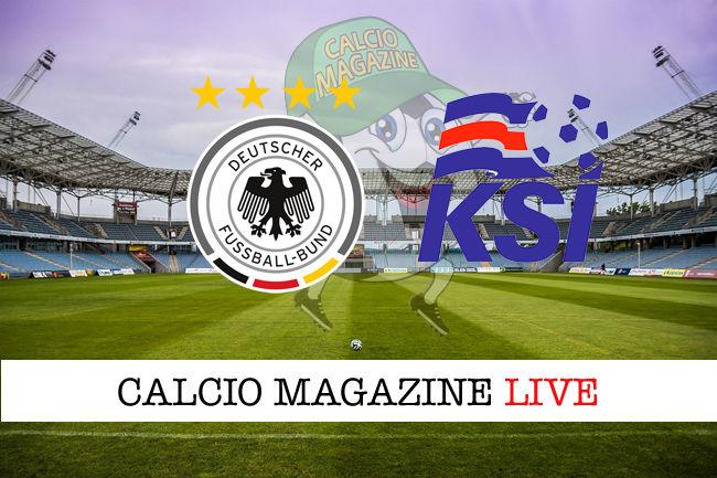 Germania - Islanda cronaca diretta live risultato in tempo reale
