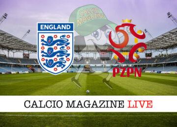 Inghilterra - Polonia cronaca diretta live risultato in tempo reale