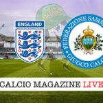 Inghilterra - San Marino cronaca diretta live risultato in tempo reale