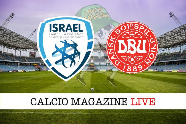 Israele - Danimarca cronaca diretta live risultato in tempo reale