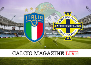 Italia - Irlanda del Nord cronaca diretta live risultato in tempo reale