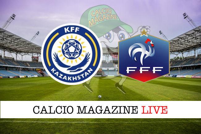 Kazakistan - Francia cronaca diretta live risultato in tempo reale