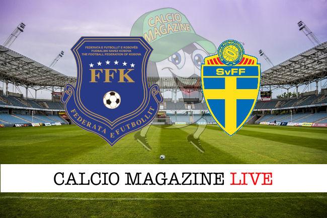 Kosovo - Svezia cronaca diretta live risultato in tempo reale