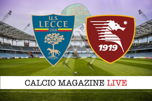 Lecce - Salernitana cronaca diretta live risultato in tempo reale