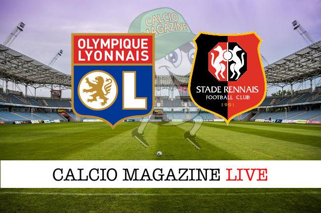 Lione Rennes cronaca diretta risultato in tempo reale