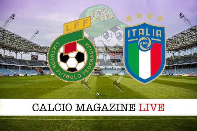 Lituania - Italia cronaca diretta live risultato in tempo reale