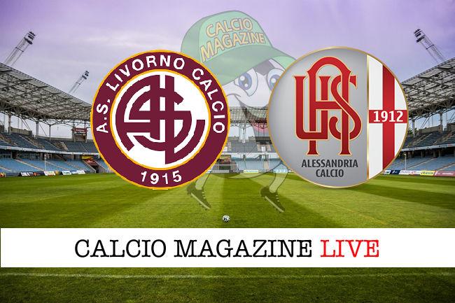 Livorno Alessandria cronaca diretta risultato in tempo reale