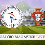 Lussemburgo - Portogallo cronaca diretta live risultato in tempo reale