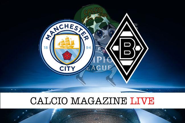 Manchester City Borussia Monchengladbach cronaca diretta live risultato in tempo reale