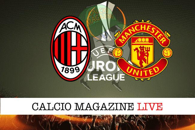 Milan - Manchester United cronaca diretta live risultato in tempo reale