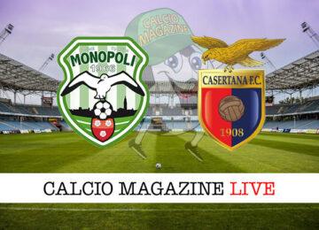 Monopoli - Casertana cronaca diretta live risultato in tempo reale