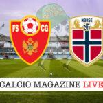 Montenegro - Norvegia cronaca diretta live risultato in tempo reale