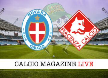 Novara - Piacenza cronaca diretta live risultato in tempo reale