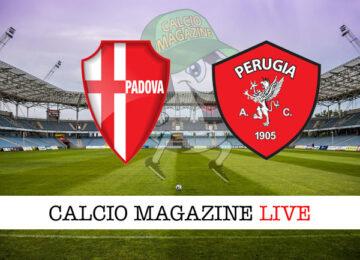 Padova Perugia cronaca diretta risultato in tempo reale