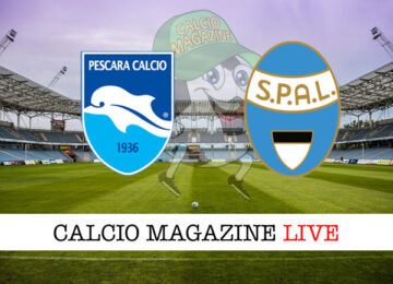Pescara SPAL cronaca diretta risultato in tempo reale