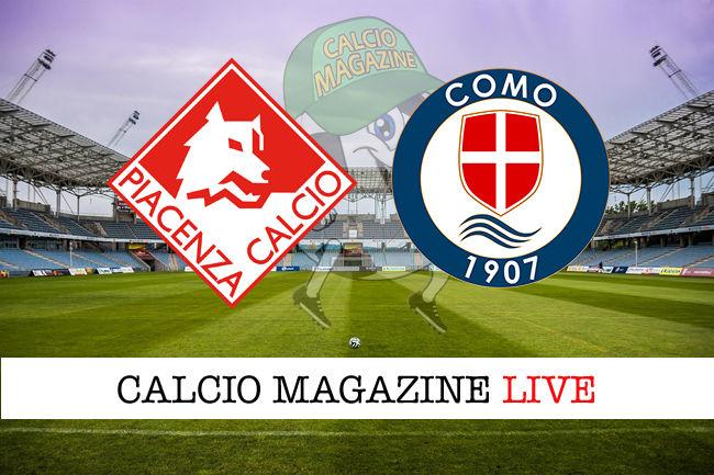 Piacenza - Como cronaca diretta live risultato in tempo reale