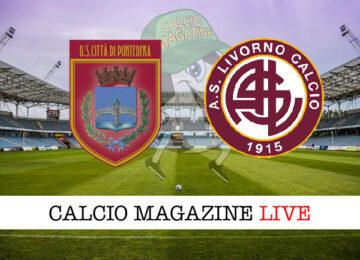 Pontedera - Livorno cronaca diretta live risultato in tempo reale