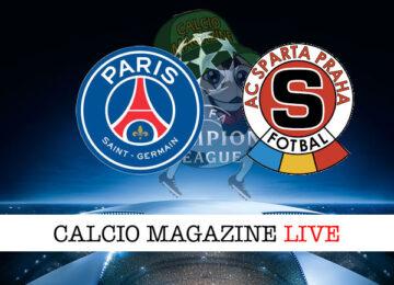 PSG Sparta Praga cronaca diretta risultato in tempo reale