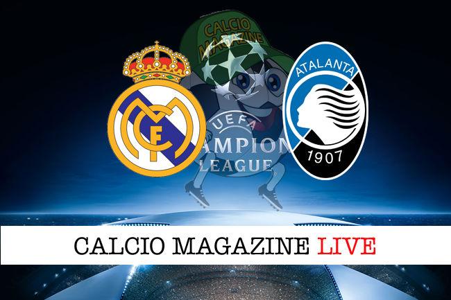 Real Madrid Atalanta cronaca diretta risultato in tempo reale