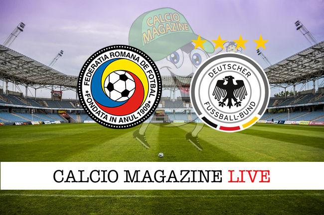 Romania Germania cronaca diretta live risultato in tempo reale