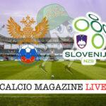 Russia Slovenia cronaca diretta live risultato in tempo reale