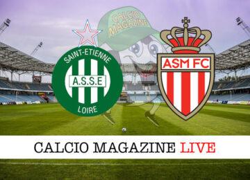 Saint Etienne - Monaco cronaca diretta live risultato in tempo reale